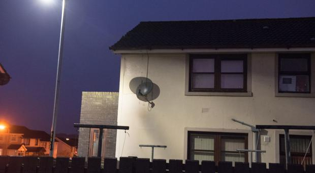 The upstairs flat in Altcar Park in Derry which was attacked
