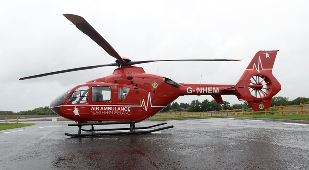 The NI Air Ambulance was sent to the scene.