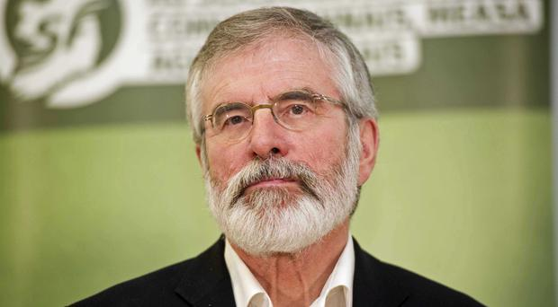 Gerry Adams said he had told Theresa May that direct rule was not an option