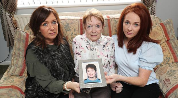Sharon Parkes (sister), Dorothy Sparks (mother) and Rachel Bickerstaff (daughter) of Michelle Bickerstaff, a victim of Leslie Ross