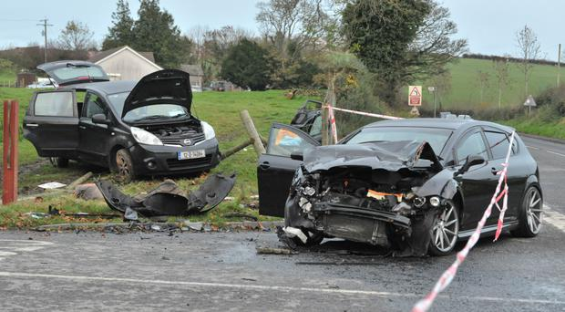 The scene of the crash on the Scarva Road near Banbridge in Co Down