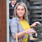 Gina McIlveen leaving Antrim Courthouse yesterday