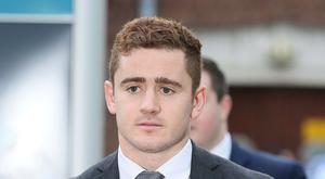 Ireland and Ulster rugby player Paddy Jackson at an earlier hearing.