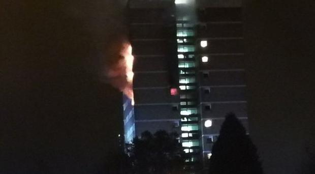 High-rise blaze in Belfast causes fears of another Grenfell