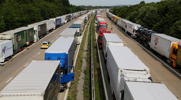 Operation Stack was activated on the M20 in Kent in 2015 to manage traffic heading towards Eurotunnel or ferry services
