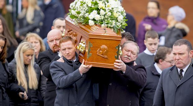 The funeral of Margaret McAlorum takes place yesterday