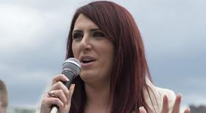 File photo dated 01/04/17 of deputy leader of far-right group Britain First, Jayda Fransen who as been arrested in London over a speech made at a rally in Belfast this summer.
