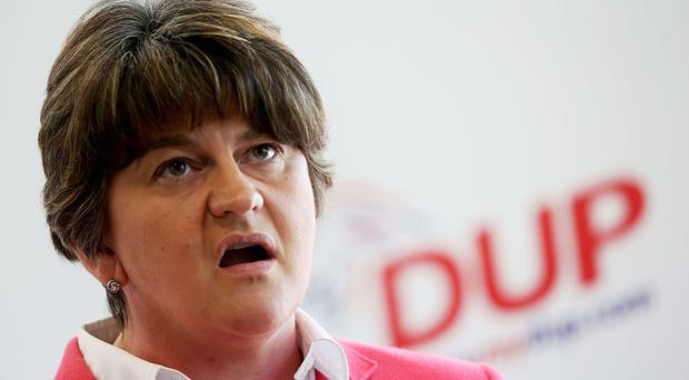 DUP leader Arlene Foster has said Northern Ireland will leave the EU on the same terms as the rest of the UK  Credit PA