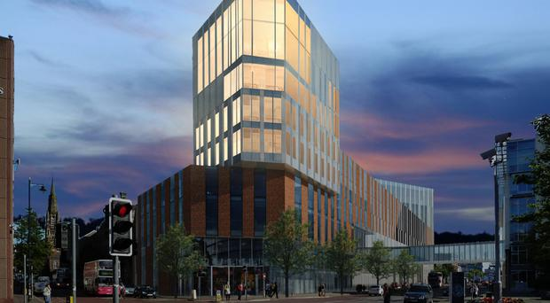 How Ulster University's completed Belfast Campus is projected to look