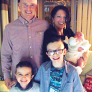 Louise James with daughter Rioghnach McGrotty, who survived, her partner Sean McGrotty, sons Mark (right) and Evan, who died along with Louise's mother Ruth Daniels, and her sister Jodie-Lee
