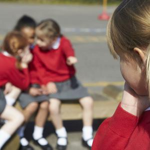 Bullying at school. Image posed by models