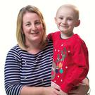 Alison Bell and her six-year-old son Ollie, who was diagnosed with leukaemia