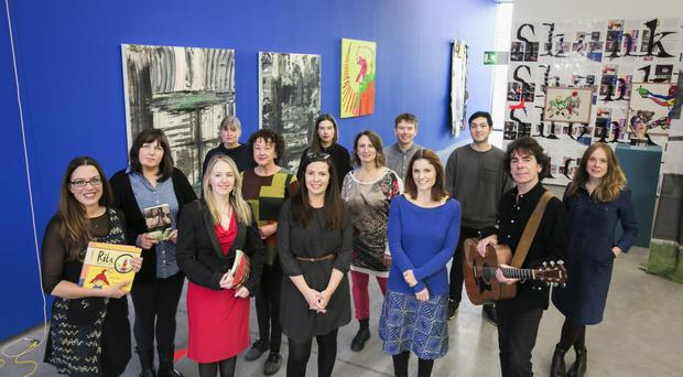 ACES artists Myra Zepf, Kelly Creighton, Rebekah Coffey, Jane Talbot, Mary Murphy, Rhiann Jeffrey, Emily McFarland, Jennifer Goddard, James Conor Patterson, Ayesha Mailey, Koichi Samuels, Davy Watson and Andrea Spencer who have all received grants from the Arts Council