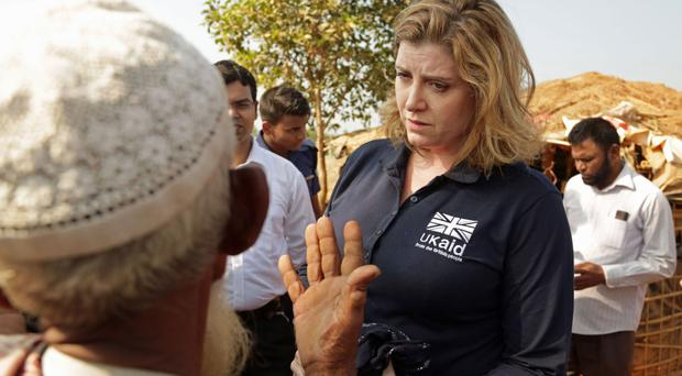 International Development Secretary Penny Mordaunt has visited a Rohingya refugee camp in Cox's Bazar, Bangladesh.