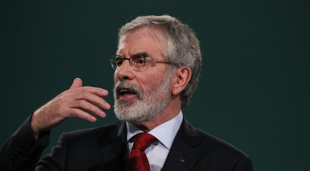 Sinn Fein President Gerry Adams said Brexit on Tory terms was bad for everyone