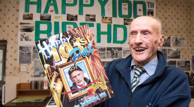 Pat Gillespie from Strabane who will be celebrating his 101st birthday on Saturday