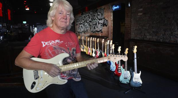 Collector: Brian Bennett donated 19 guitars to the auction