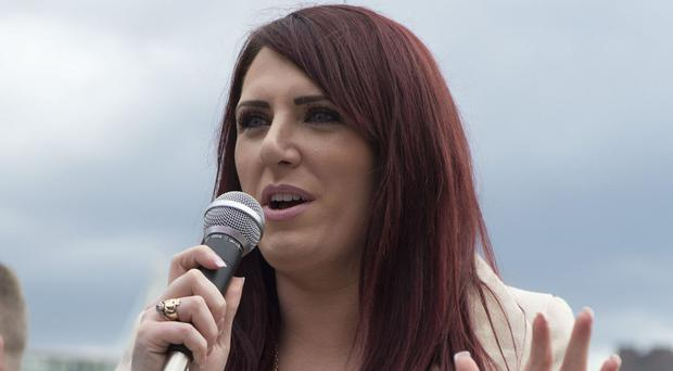 Deputy leader of far-right group Britain First Jayda Fransen.