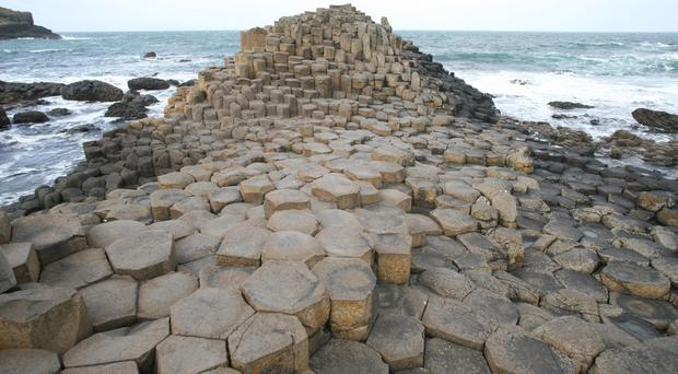 The Giant's Causeway in North Antrim one of the key tourism attractions of Northern Ireland