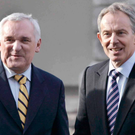 Bertie Ahern and Tony Blair in 2008