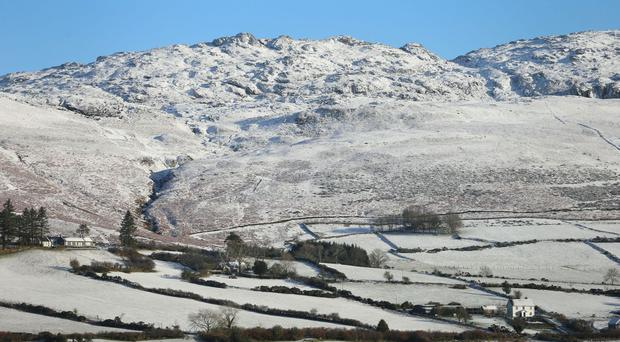 Snowy scenes in the Cooley Mountains in County Louth