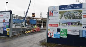 Work under way on the new leisure centre in Newtownards which it is proposed be named after Lieutenant Colonel Blair Mayne