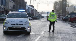 Police at the scene of shooting in Garvagh
