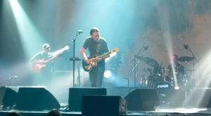Chris Rea performing at the New Theatre Oxford moments before he collapsed