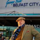 David Coburn arriving at George Best Belfast City Airport for the Ukip Northern Ireland conference