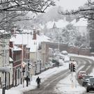 Motorists brave the snow in Worcester