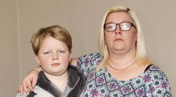 Amanda Wallace-Plews from Scarva with her son Zac who suffers from a urology condition and has to wait four years to see a consultant