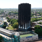 Grenfell Tower days after the fire