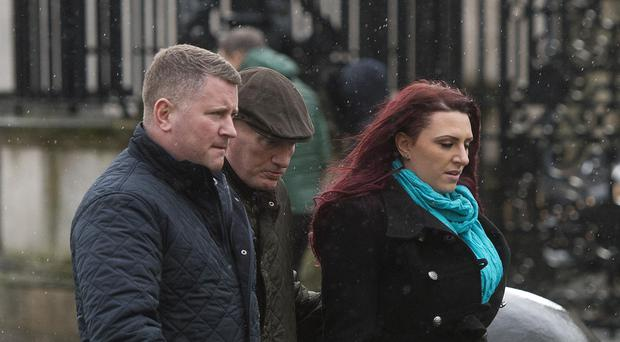 Golding (left) attended court to support Fransen (right)