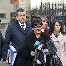 Relatives of murder victims attended Belfast Crown Court where Haggarty has pleaded guilty to 202 terror offences