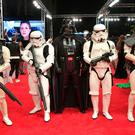 Festival-goers dressed as Star Wars characters at the Dubai International Film Festival yesterday