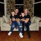 Jonathan Rea with his wife Tatia and children Jake and Tyler