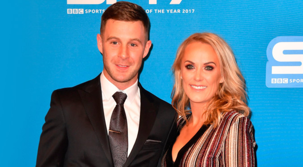 Jonathan Rea and wife Tatia arrive for the awards