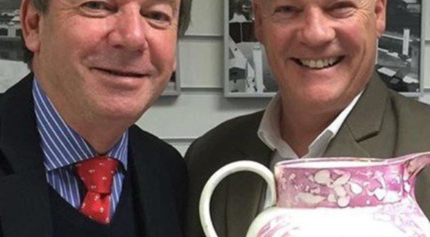 Cash in the Attic's Tom Keane, with Eric Knowles (left), will be offering free valuations for small items and collectibles, as well as offering advice from photographs of bigger antiques at the event