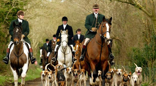 Members of the Mid Antrim Hunt