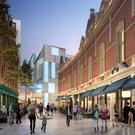 An artist's impression of how the completed city centre development could look