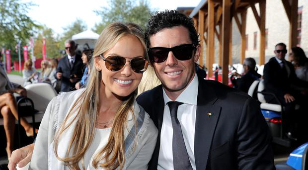 Rory Mcllroy and wife Erica