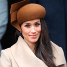 Meghan Markle shows off the hat she wore on Christmas Day