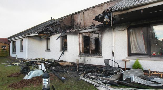 Damage at Agherton Grange in Portstewart caused by the fire