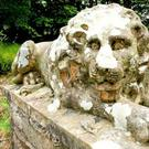 Rowallane Garden, Saintfield, where two stone lions were removed from their plinths