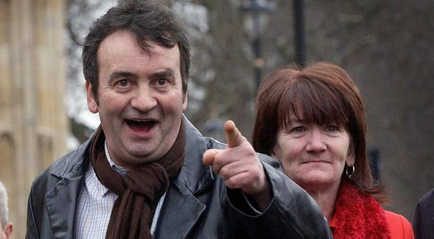 The Guildford Four's Gerry Conlon and his sister Ann, in 2005