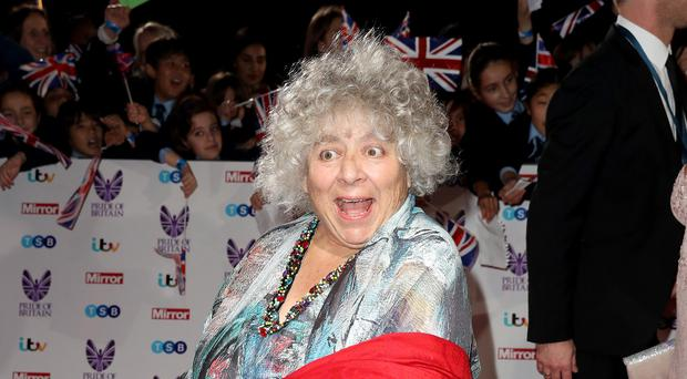 Miriam Margolyes on the red carpet