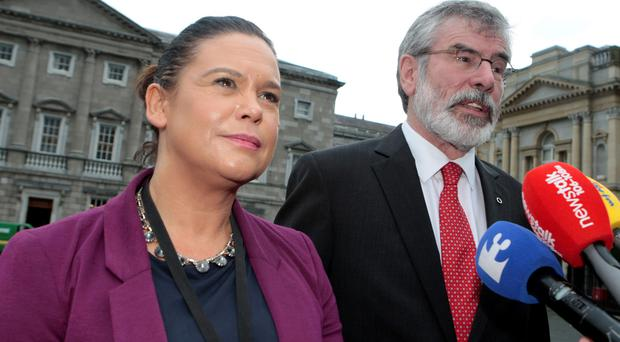Sinn Fein deputy leader Mary Lou McDonald looks set to take over the reins from Gerry Adams as party president.