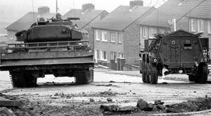 Tanks on the streets of N Ireland during Operation Motorman (PA)