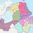 A screenshot from the Boundary Commission for Northern Ireland website taken on Monday of a map showing revised proposals for electoral boundaries in the region. (PA)