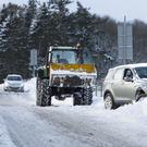 Drivers endure difficult conditions in Midlothian (David Cheskin/PA)